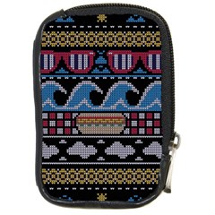 Ugly Summer Ugly Holiday Christmas Black Background Compact Camera Cases by Onesevenart
