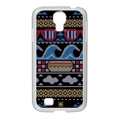 Ugly Summer Ugly Holiday Christmas Black Background Samsung Galaxy S4 I9500/ I9505 Case (white) by Onesevenart