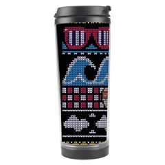Ugly Summer Ugly Holiday Christmas Black Background Travel Tumbler by Onesevenart