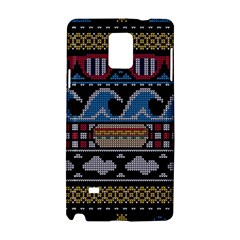 Ugly Summer Ugly Holiday Christmas Black Background Samsung Galaxy Note 4 Hardshell Case by Onesevenart
