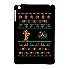 We Wish You A Metroid Christmas Ugly Holiday Christmas Black Background Apple Ipad Mini Hardshell Case (compatible With Smart Cover) by Onesevenart