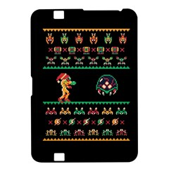 We Wish You A Metroid Christmas Ugly Holiday Christmas Black Background Kindle Fire Hd 8 9  by Onesevenart