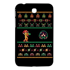 We Wish You A Metroid Christmas Ugly Holiday Christmas Black Background Samsung Galaxy Tab 3 (7 ) P3200 Hardshell Case  by Onesevenart
