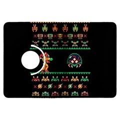We Wish You A Metroid Christmas Ugly Holiday Christmas Black Background Kindle Fire Hdx Flip 360 Case by Onesevenart