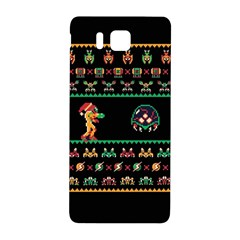 We Wish You A Metroid Christmas Ugly Holiday Christmas Black Background Samsung Galaxy Alpha Hardshell Back Case by Onesevenart