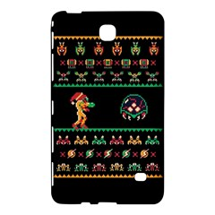 We Wish You A Metroid Christmas Ugly Holiday Christmas Black Background Samsung Galaxy Tab 4 (7 ) Hardshell Case  by Onesevenart