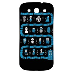 Who Is Outside Ugly Holiday Christmas Black Background Samsung Galaxy S3 S Iii Classic Hardshell Back Case by Onesevenart