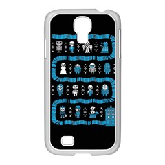 Who Is Outside Ugly Holiday Christmas Black Background Samsung Galaxy S4 I9500/ I9505 Case (white) by Onesevenart