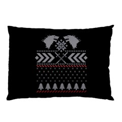 Winter Is Coming Game Of Thrones Ugly Christmas Black Background Pillow Case by Onesevenart