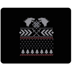 Winter Is Coming Game Of Thrones Ugly Christmas Black Background Fleece Blanket (medium)  by Onesevenart
