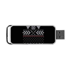 Winter Is Coming Game Of Thrones Ugly Christmas Black Background Portable Usb Flash (one Side) by Onesevenart
