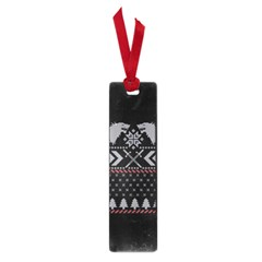 Winter Is Coming Game Of Thrones Ugly Christmas Black Background Small Book Marks by Onesevenart