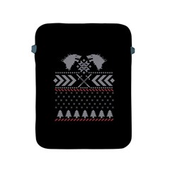 Winter Is Coming Game Of Thrones Ugly Christmas Black Background Apple Ipad 2/3/4 Protective Soft Cases by Onesevenart