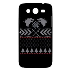Winter Is Coming Game Of Thrones Ugly Christmas Black Background Samsung Galaxy Mega 5 8 I9152 Hardshell Case  by Onesevenart