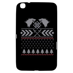 Winter Is Coming Game Of Thrones Ugly Christmas Black Background Samsung Galaxy Tab 3 (8 ) T3100 Hardshell Case  by Onesevenart