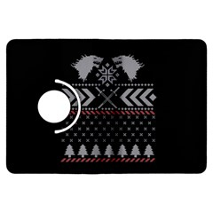 Winter Is Coming Game Of Thrones Ugly Christmas Black Background Kindle Fire Hdx Flip 360 Case by Onesevenart