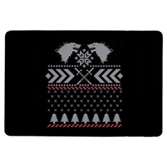 Winter Is Coming Game Of Thrones Ugly Christmas Black Background Ipad Air Flip by Onesevenart