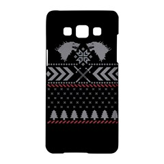 Winter Is Coming Game Of Thrones Ugly Christmas Black Background Samsung Galaxy A5 Hardshell Case  by Onesevenart