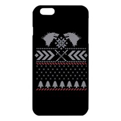 Winter Is Coming Game Of Thrones Ugly Christmas Black Background Iphone 6 Plus/6s Plus Tpu Case by Onesevenart
