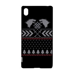 Winter Is Coming Game Of Thrones Ugly Christmas Black Background Sony Xperia Z3+ by Onesevenart