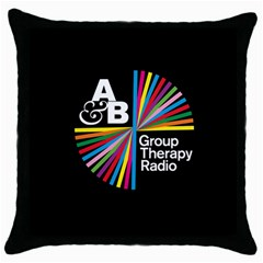 Above & Beyond  Group Therapy Radio Throw Pillow Case (black) by Onesevenart