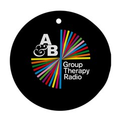 Above & Beyond  Group Therapy Radio Round Ornament (two Sides) by Onesevenart