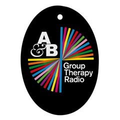 Above & Beyond  Group Therapy Radio Oval Ornament (two Sides) by Onesevenart