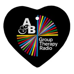 Above & Beyond  Group Therapy Radio Heart Ornament (two Sides) by Onesevenart