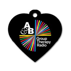 Above & Beyond  Group Therapy Radio Dog Tag Heart (one Side) by Onesevenart