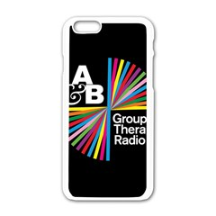 Above & Beyond  Group Therapy Radio Apple Iphone 6/6s White Enamel Case by Onesevenart