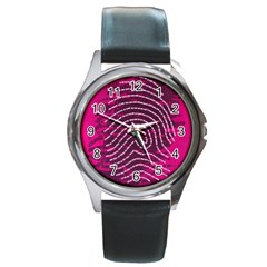 Above & Beyond Sticky Fingers Round Metal Watch by Onesevenart