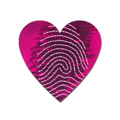 Above & Beyond Sticky Fingers Heart Magnet by Onesevenart