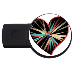 Above & Beyond Usb Flash Drive Round (2 Gb) by Onesevenart
