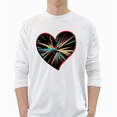 Above & Beyond White Long Sleeve T Shirts by Onesevenart