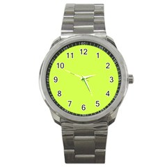 Neon Color   Light Brilliant Lime Green Sport Metal Watch by tarastyle