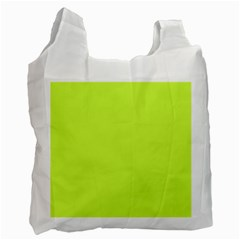 Neon Color   Light Brilliant Lime Green Recycle Bag (one Side) by tarastyle