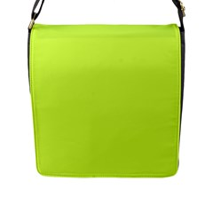 Neon Color   Light Brilliant Lime Green Flap Messenger Bag (l)  by tarastyle