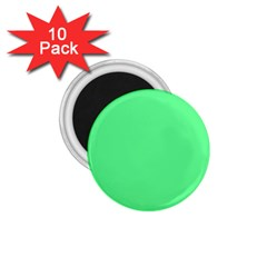 Neon Color   Light Brilliant Malachite Green 1 75  Magnets (10 Pack)  by tarastyle