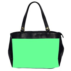 Neon Color   Light Brilliant Malachite Green Office Handbags (2 Sides)  by tarastyle
