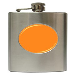Neon Color   Light Brilliant Orange Hip Flask (6 Oz) by tarastyle