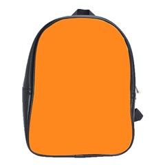 Neon Color   Light Brilliant Orange School Bags(large)  by tarastyle