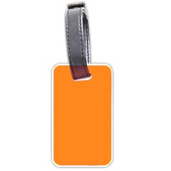 Neon Color   Light Brilliant Orange Luggage Tags (two Sides) by tarastyle