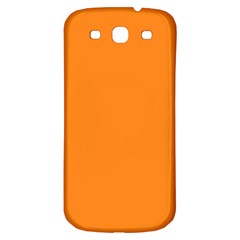 Neon Color   Light Brilliant Orange Samsung Galaxy S3 S Iii Classic Hardshell Back Case by tarastyle