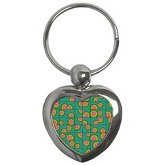 Tiled Circular Gradients Key Chains (heart)  by linceazul