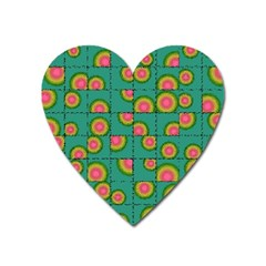 Tiled Circular Gradients Heart Magnet by linceazul