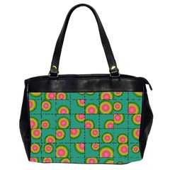 Tiled Circular Gradients Office Handbags (2 Sides)  by linceazul