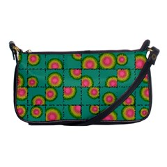 Tiled Circular Gradients Shoulder Clutch Bags by linceazul