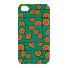 Tiled Circular Gradients Apple Iphone 4/4s Hardshell Case by linceazul