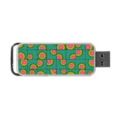 Tiled Circular Gradients Portable Usb Flash (two Sides) by linceazul