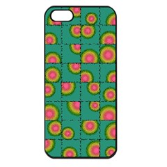 Tiled Circular Gradients Apple Iphone 5 Seamless Case (black) by linceazul